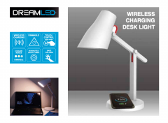 Dreamled design bureaulamp met draadloze oplader