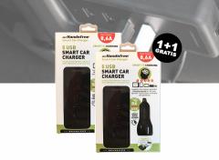 Mr Handsfree 5USB smart car charger 8.6A zwart 1+1 Gratis