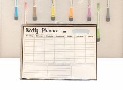 FEDEC Magnetische Whiteboard Weekplanner - Met Accessoires