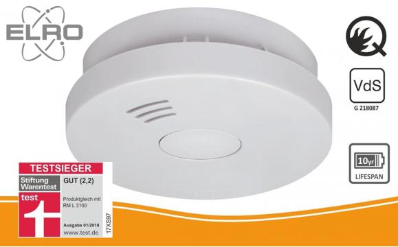ELRO FS9010 Rookmelder met 10 jaar batterij - Q-Label, VDS en StiWa testwinnaar
