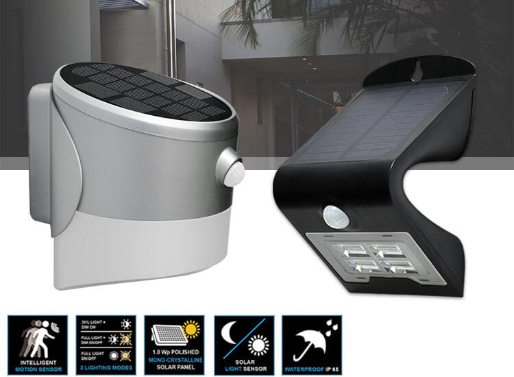 Dreamled Solar Led Design Wandlampen - Draadloze buitenlamp met licht - en bewegingssensor - 2 Versc