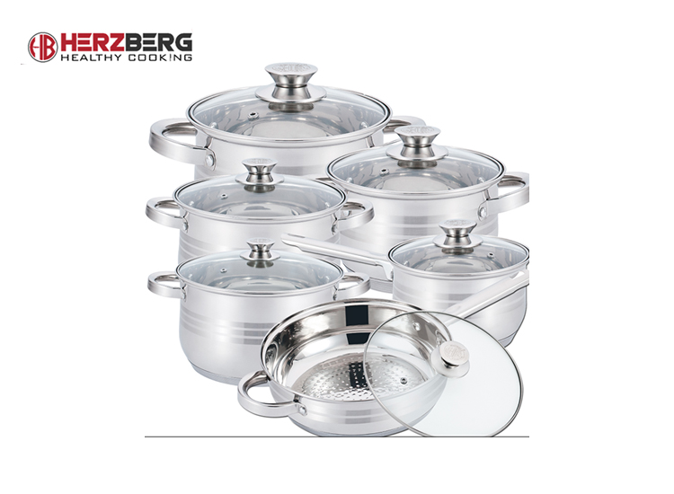Herzberg HG-1241 pannenset 12 delig