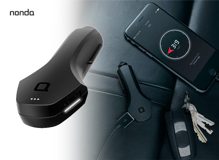 Nonda Auto-oplader en Car-Finder-functie