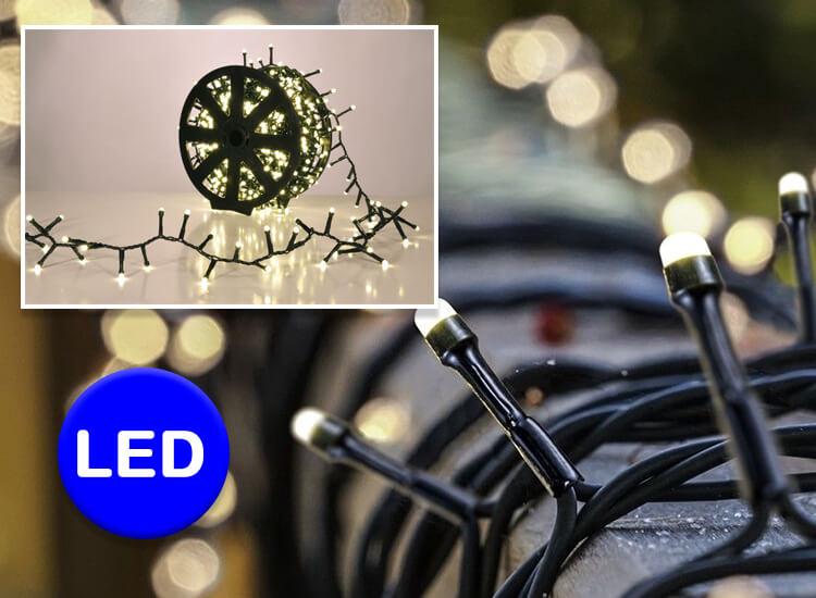 1.000 led lichtjes warm wit - Kerstverlichting voor binnen of buiten op handige kabelrol