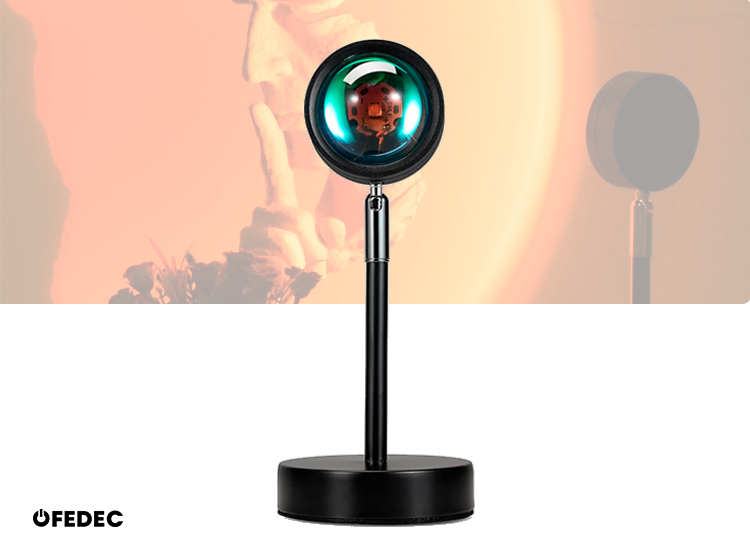 Fedec Sunset lamp - Zonsondergang lamp - Projector - Sfeerverlichting binnen