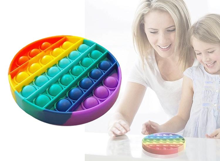 Pop It Fidget Regenboog - Ronde vorm - Multi color - Pop it fidget toy