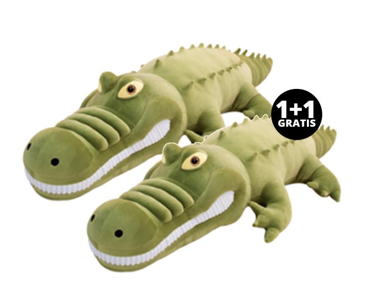 Pluche Krokodillen Knuffel - 80cm - 1+1 Gratis