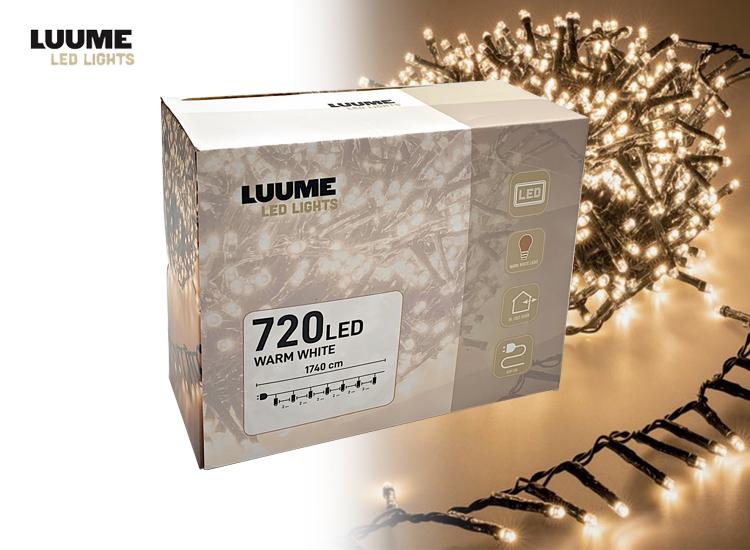 Clusterverlichting 720 LED lampjes - 14,4 meter