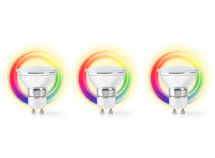 Nedis SmartLife LED Spot| GU10 | 400 lm | 5 W |Dimbaar Wit - Koel Wit - Warm Wit