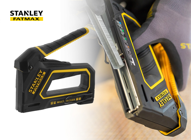Stanley FatMax Handtacker 4-in-1 - Nietmachine - Tot 25 procent gemakkelijker in gebruik,Gemaakt van lichte materialen voor licht gewicht,Ligt comfortabel in de hand voor optimale bruikbaarheid,Gaat extra lang mee door slim ontwerp