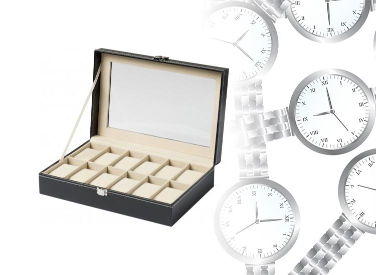 Horloge en Sieraden opbergdoos - Horlogebox - Voor 12 stuks