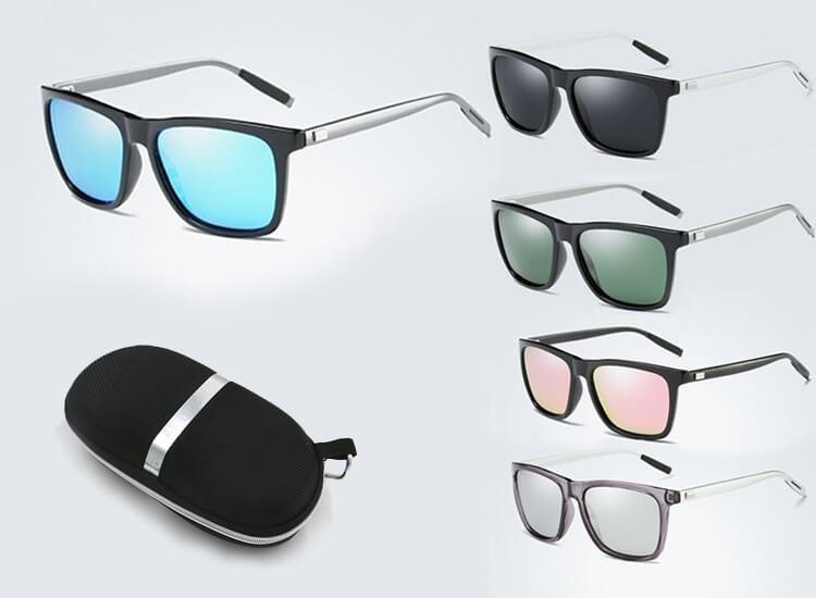 Heren Retro zonnebril met metalen frame