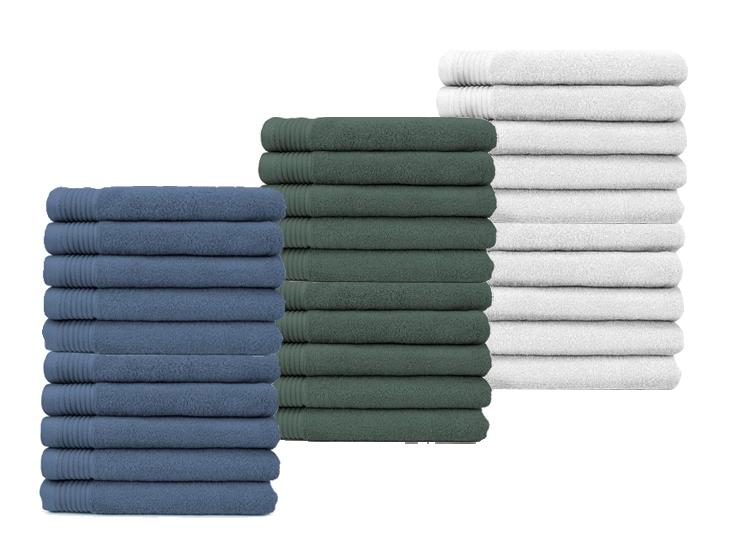 The One Towelling Luxe Hotel Handdoeken 100% Katoen - 50x100 - Verschillende Kleuren - 10 pack