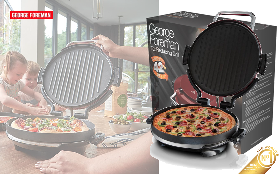 George Foreman contactgrill rond 360� Grill