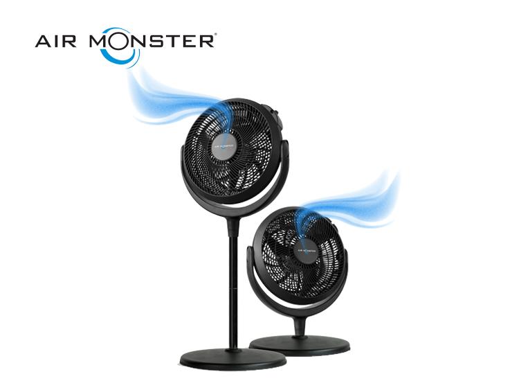 Air Monster Ventilator - Ø 30 cm - Met een diameter van wel 30 cm,Mogelijkheid om te schakelen tussen 3 snelheidsstanden,Blaasrichting 180° verstelbaar