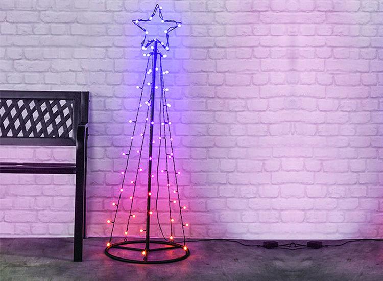LED Kerstboom RGB kerstverlichting 100 cm