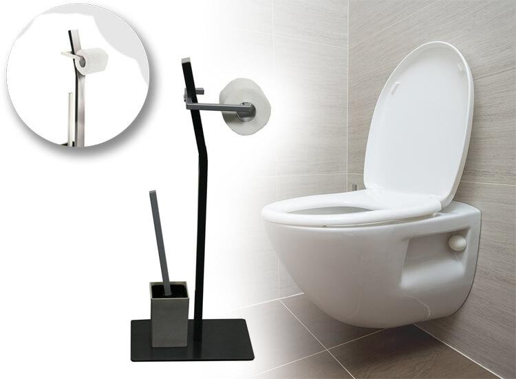 Dagaanbieding - WC Garnituur - toiletrol- en borstelhouder dagelijkse koopjes