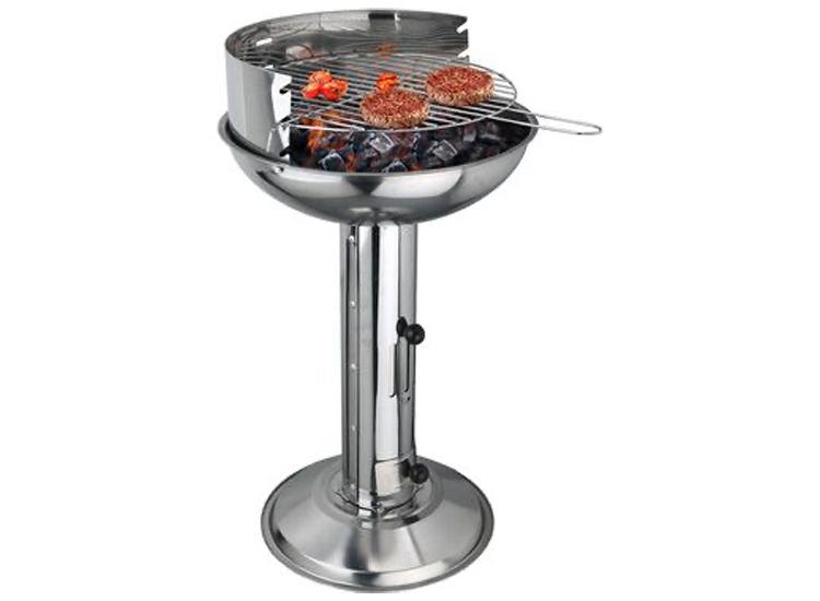 Michelino Ronde Houtskool Barbecue met onderstel - RVS