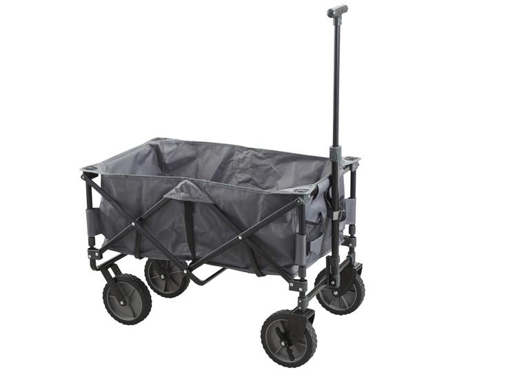 Opvouwbare Bolderwagen/bolderkar - max. 70kg - Ideaal voor strandgangers of festivalgangers,Inklapbaar dus gemakkelijk op te bergen,Max. Laadvermogen: 70 kg