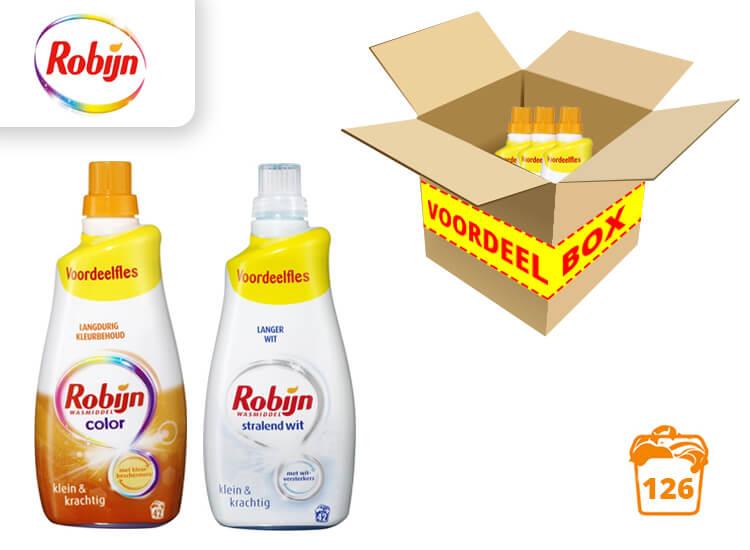 Robijn Vloeibaar Wasmiddel - 3 flessen- 126 wasbeurten