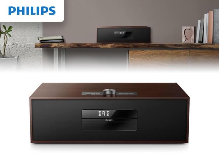 Dagaanbieding - Philips-BTB4800-Microset-met-DAB+-Bruin dagelijkse koopjes