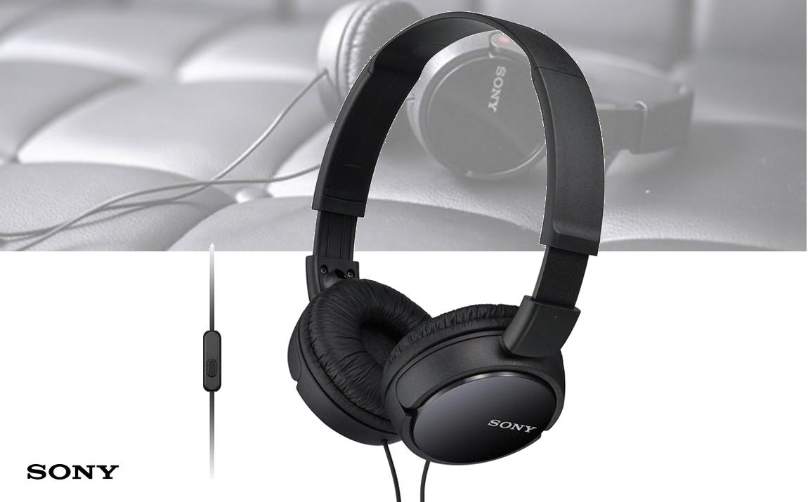 Sony Headphones with Built-in Mic ZX-series - black