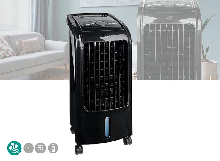 Nedis Mobiele Aircooler | Watertankcapaciteit: 3 l | 3 Snelheden | 270 m³/h | Zwenkfunctie | Afstand