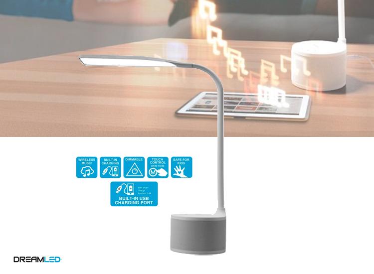 Dreamled Bureaulamp met ingebouwde speaker - Wit