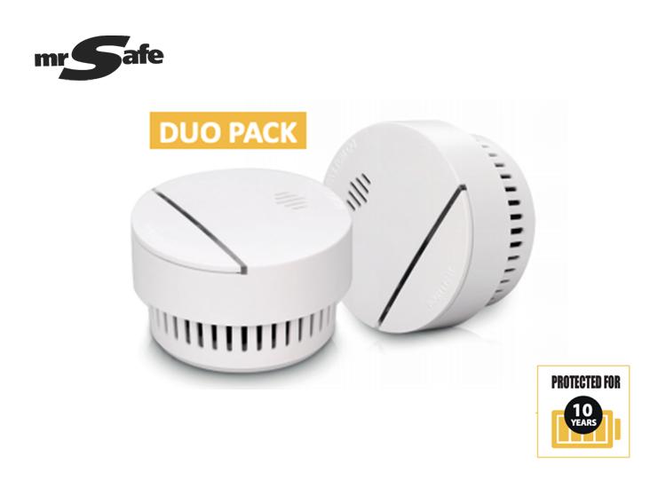 mr Safe SD-100 rookmelders - 10 jaar batterij - 2 stuks