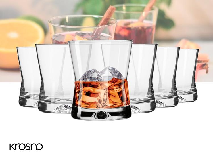Krosno X-line Collection Whiskyglazen - Set van 6 - 290ml