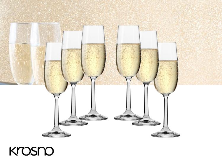 Krosno Pure Collection Champagneglazen - Set van 6 - 170ml