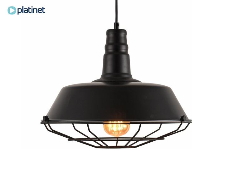 Platinet hanglamp kronos - E27 - industrieel