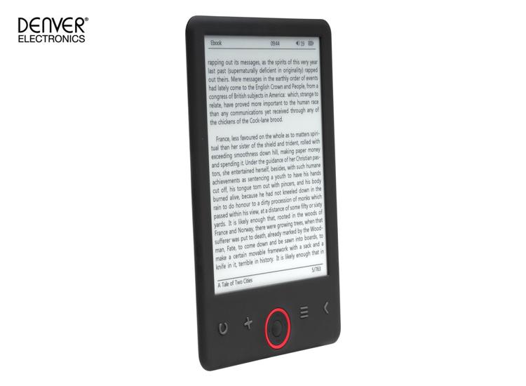 Denver EBO-630L Ebook reader with 6 E-INK panel & front light