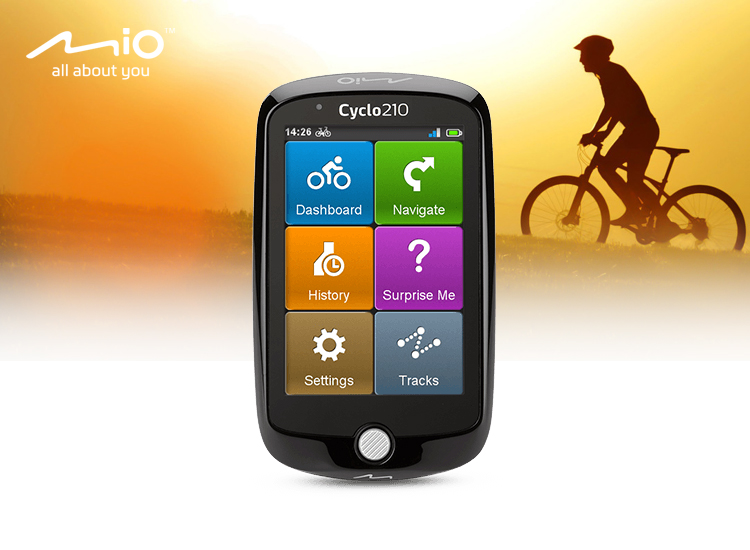 Mio Cyclo 210 Fietscomputer - Zwart - refurbished