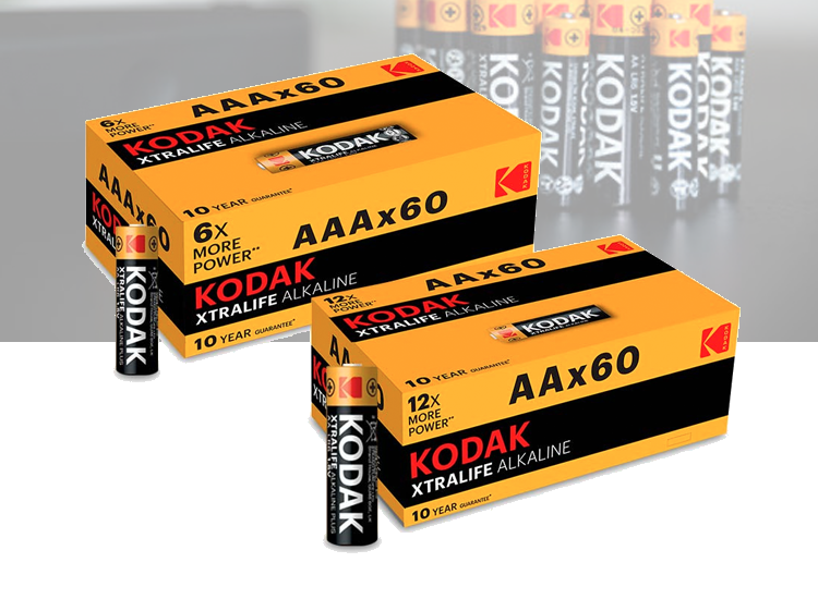 Kodak XTRALIFE batterijen - 60-pack - AA of AAA