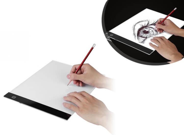 LED lightpad A4 tekenbord - dimbaar