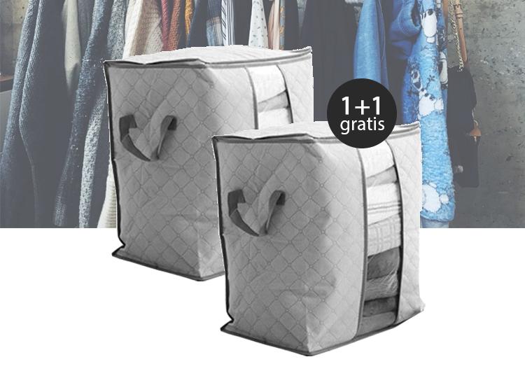 Kleding opbergbox - Grijs - 1+1 Gratis