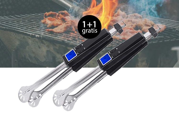 BBQ Vleestang met ingebouwde thermometer 1+1 Gratis
