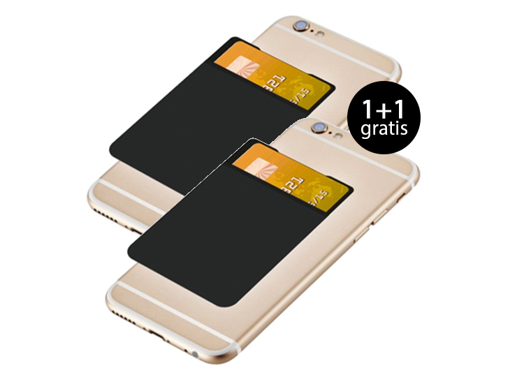 Grixx zelfklevende creditcard smartphone wallet 1+1 Gratis