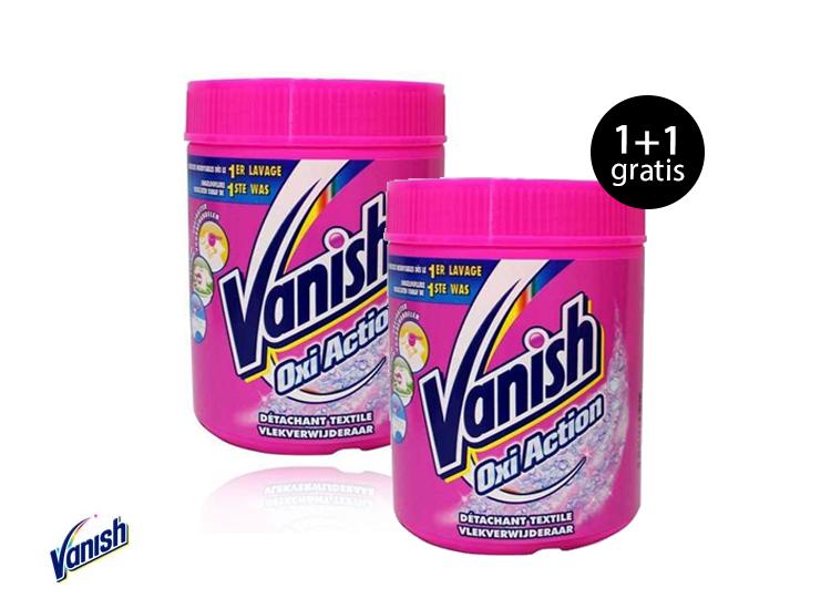 Vanish Oxi Action Poeder - Vlekkenverwijderaar - 500 gram 1+1 Gratis