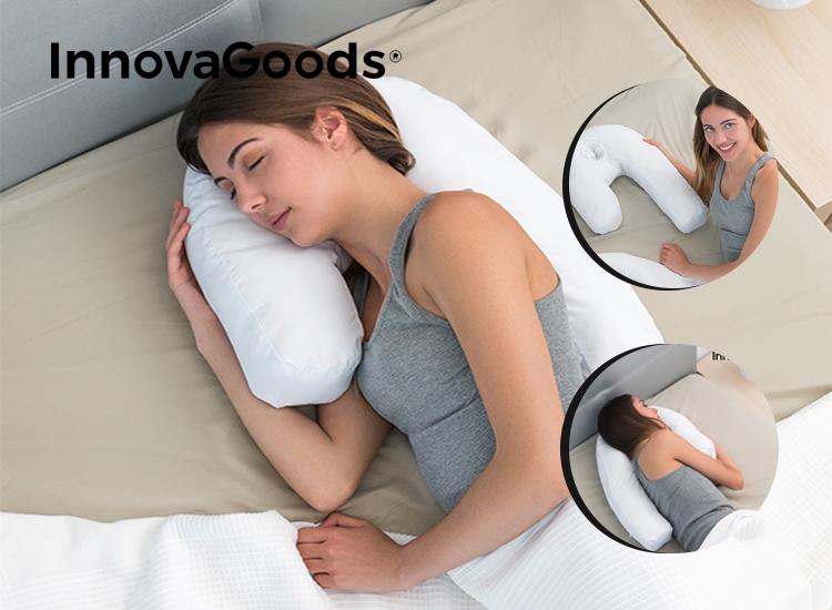 InnovaGoods Wellness Relax ergonomisch U-vormig zijslaapkussen