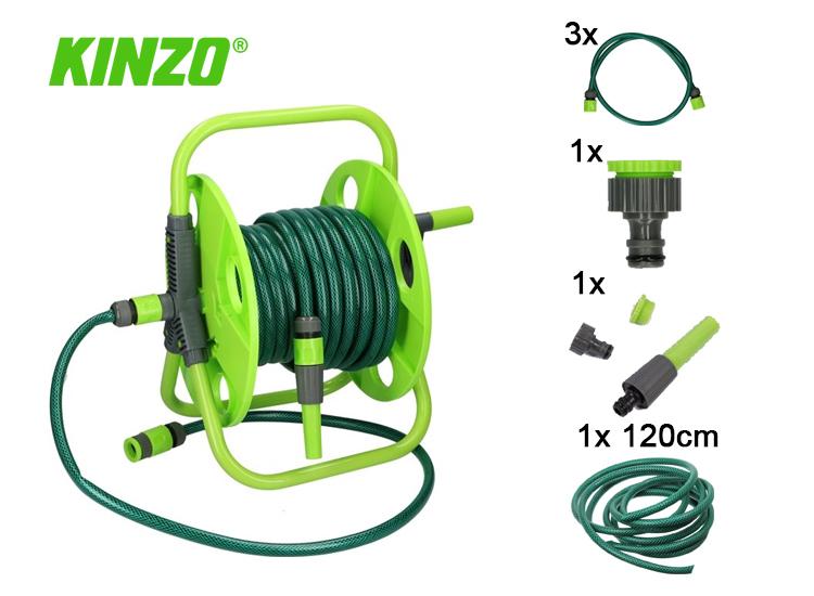 Kinzo tuinslang haspel met Koppeling 15 meter 1/2 PV