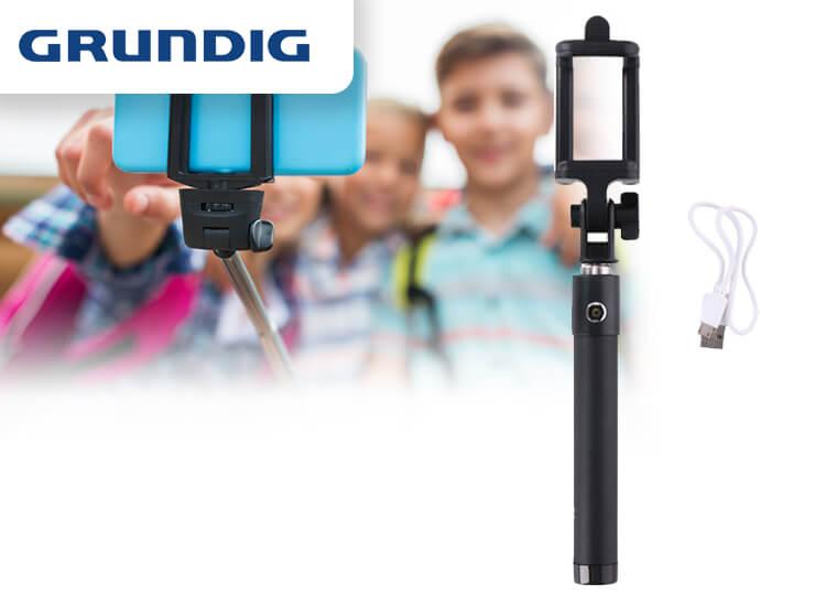 Grundig Uitschuifbare Bluetooth Selfie Stick Zwart