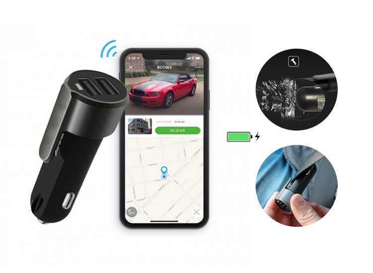 Silvergear Car Charger en GPS tracker in 1