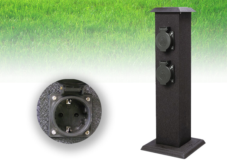 Dagaanbieding - Smartwares outdoor stroompaal - stekkerpaal dagelijkse koopjes