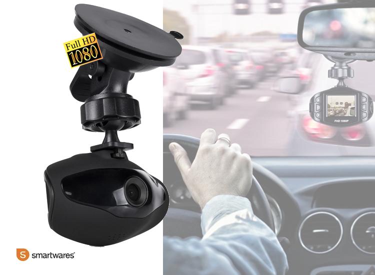 Smartwares 1080p Full HD Dashcam - Voor auto - 1,5'' display