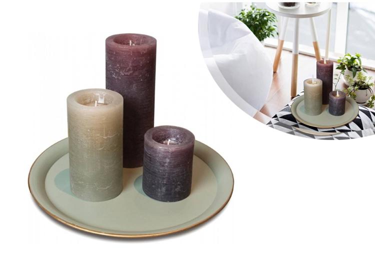 Kaarsenset met tray 4 delig