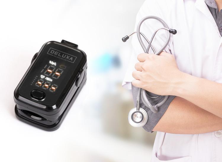 Deluxa Oximeter - Hartslagmeter - Saturatiemeter - Oximeter Pulse - Zwart