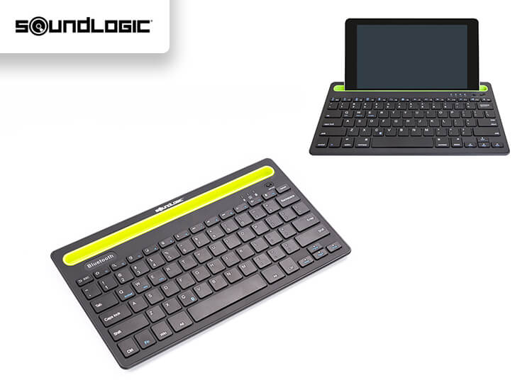 Soundlogic Draadloos Toetsenbord - Bluetooth - Gleuf Voor Smartphone of Tablet