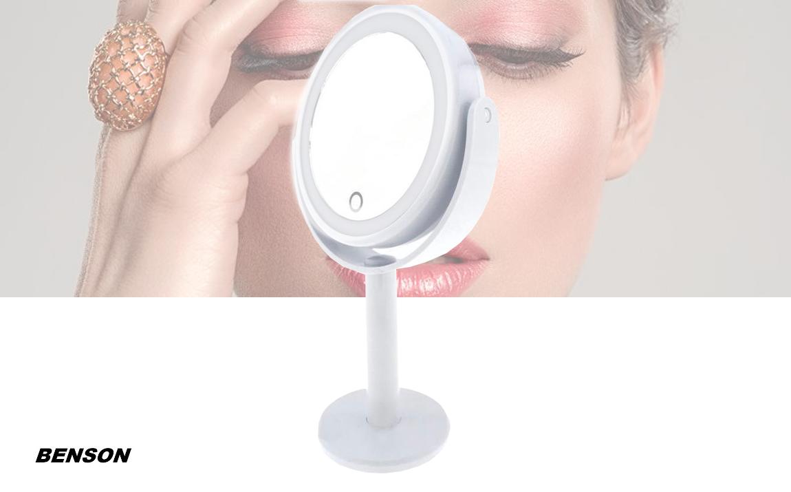 Benson make-up spiegel met LED ring